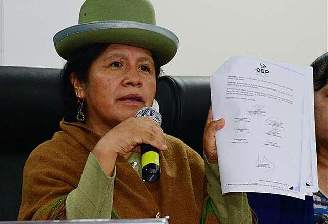 Denuncian que María Eugenia Choque ordenó detener el sistema del TREP el 20 de octubre