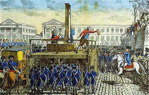 Beheading of King Louie XVI