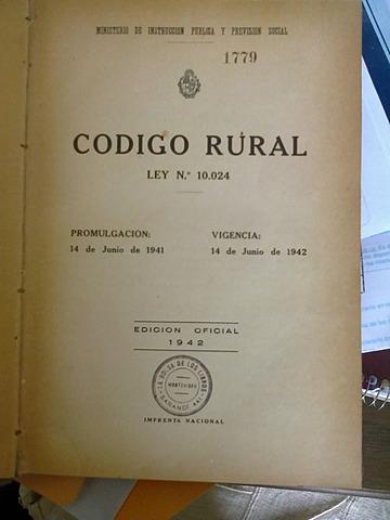 Ley de crédito rural.