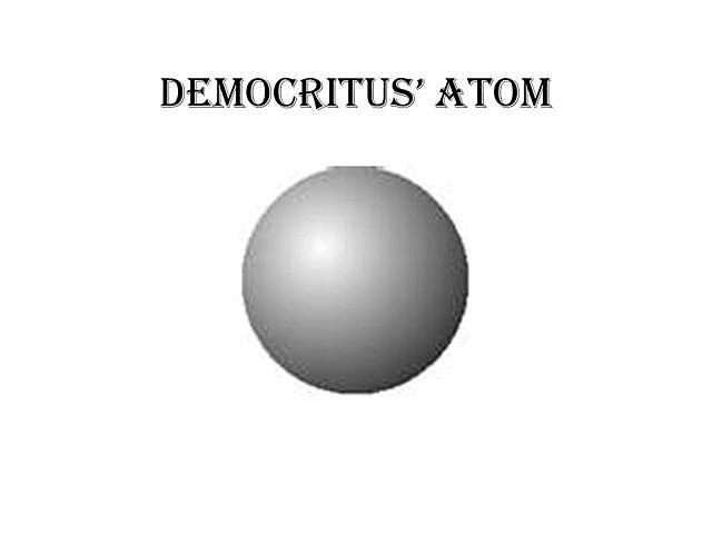 The Beginning: Democritus