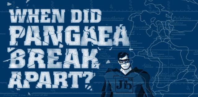 Pangaea starts to break apart  (200 mya)