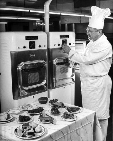Primer horno comercial de microondas
