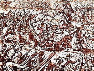 Atahualpa Wins a decisive battle.