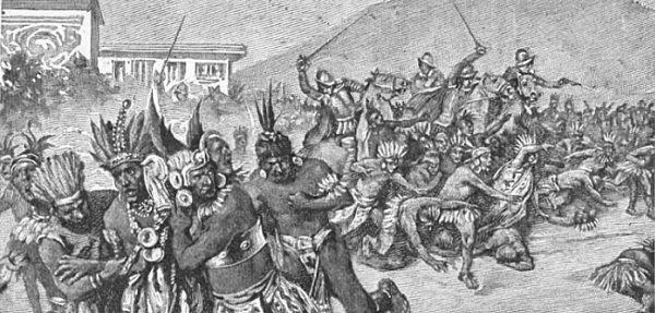 Renegade Spaniards murder Manco Inca.