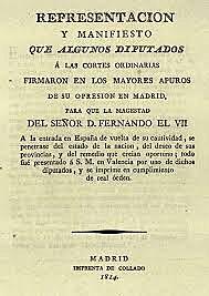 FERNANDO VII VUELVE A ESPAÑA. MANIFIESTO DE LOS PERSAS.