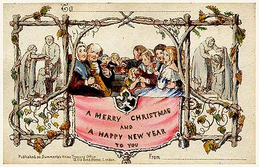 Primera tarjeta navideña