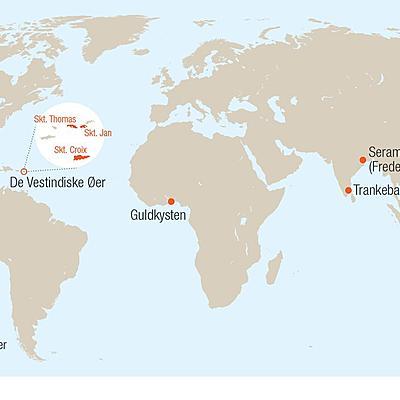 Tema 4: De danske tropekolonier timeline