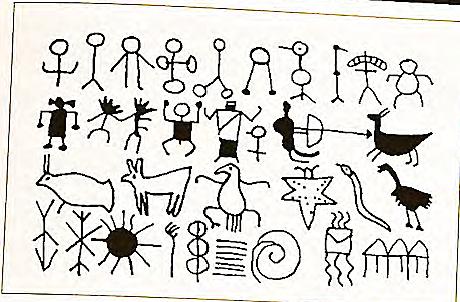 Primeras representaciones comunicativas en las pinturas rupestres. Pictogramas del Paleolítico.