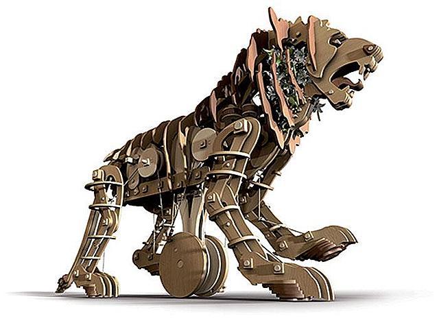 Механизированный лев Леонардо да Винчи