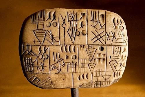 Nacimiento de la escritura cuneiforme.
