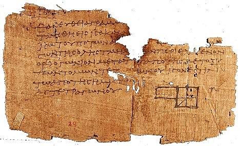 Escritura en papiro.
