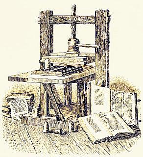 Tipos moviles de Gutenberg.