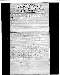 South Carolina passes ordinance of nulliication
