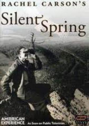 Publication of Rachel Carson's Silent Spring