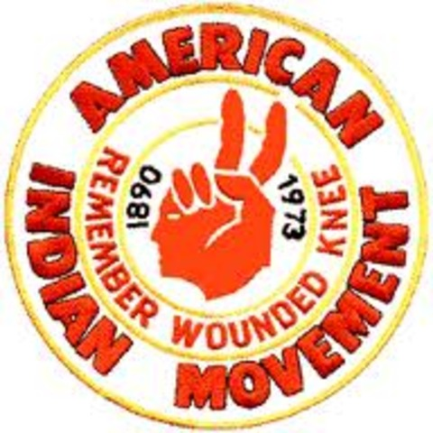 Protesters from the AIM take over the reservation at Wounded Knee