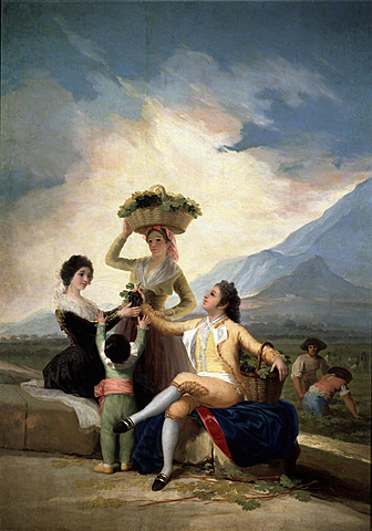 """GOYA: Cartrons per a tapissos """"El Otoño"""" o """"La Vendimia"""""""