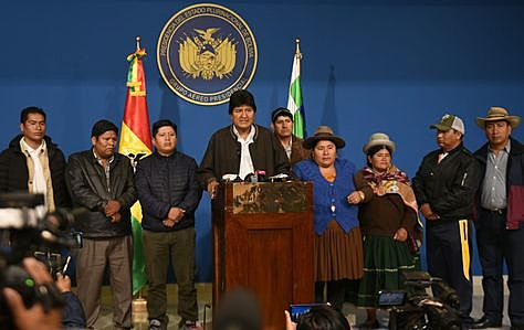 Evo anuncia nuevas elecciones con nuevas autoridades electorales y nuevos actores políticos