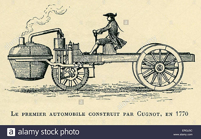El primer automóvil de vapor