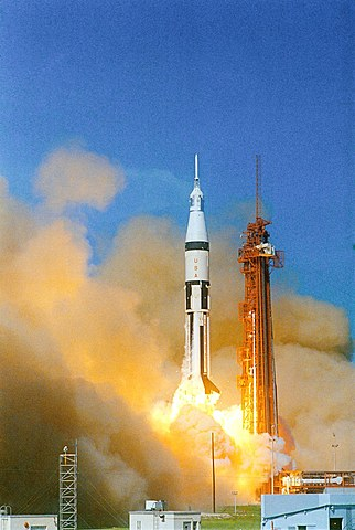 Apollo completes 1st manned mission for Apollo program