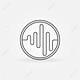 45709521 logo sound o icono vector simbolo sound wave música mínima placa o etiqueta