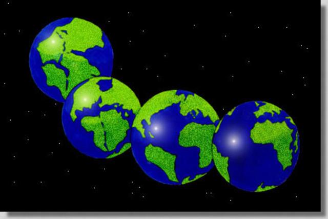 200 Million Years Ago: Pangea departs