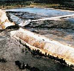 Falla de la represa Sadd el-Kafara en Egipto