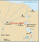 Conexión del río Nilo y el mar Rojo mediante un canal de navegación durante el reinado de Seostris I.