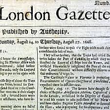 Newspaper-The London Gazette (1640)