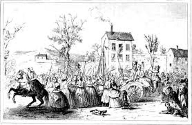 Parisian Women Rebellion over Bread