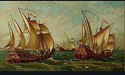 Cristóbal Colon aprovecha conocimiento comportamiento de los vientos para su viaje.