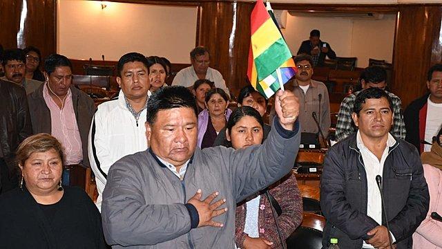 Diputado alteño Sergio Choque asume presidencia de Cámara Baja