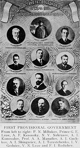 Tsar Nicholas Leaves Throne/Russian Provisional Government