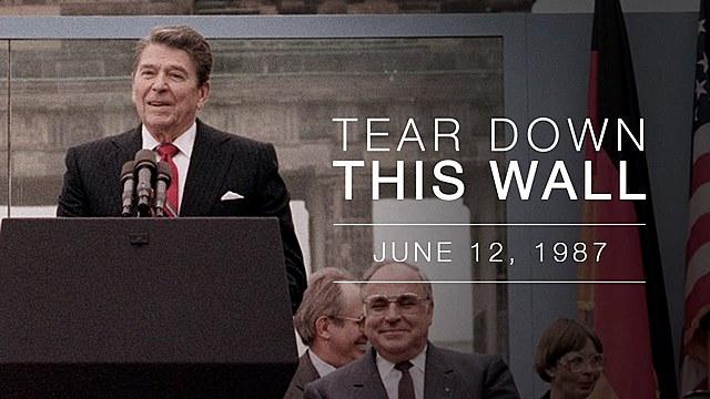 Ronald Reagan machen eine Rede