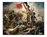 Revolución de 1830. Cuadro de Delacroix