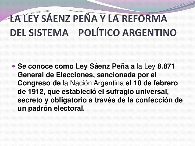 1880-1912: República Conservadora . Democracia Restringida