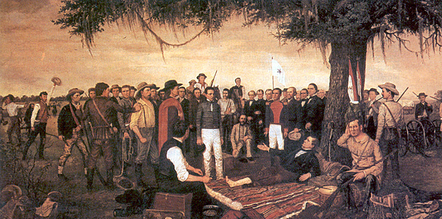 Sam Houston Arrives at Goliad after seeing Matamoros  expedition was a disaster, he wanted to take control.