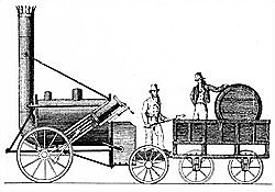 Stephenson diseña la locomotora Rocket