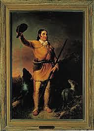 David Crockett entered the Alamo with small group of volunteers.