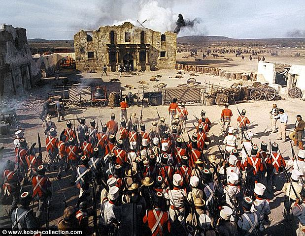 First Mexican troops arrive at  The Alamo.