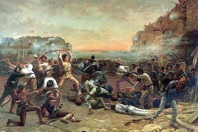 Sam Houston arrives at Washington on the Brazos, while Santa Anna's seige  of the Alamo.