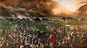 Battle of San Jacinto for Texas Revolution led by Sam Houston and defeated Santa Anna.