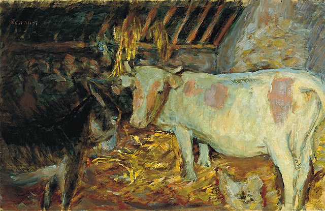 El establo - Pierre Bonnard