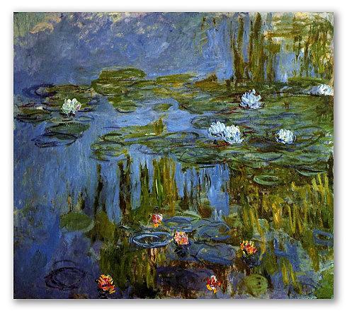 Lilas de agua - Monet
