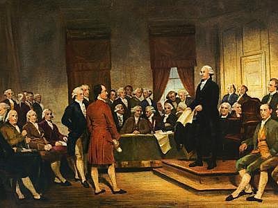 Aprobación de la Constitución de EEUU.