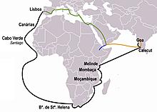 Seeweg nach Indien