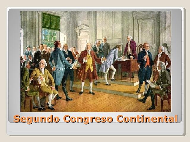 El Segundo Congreso Continental se reúne en Filadelfia