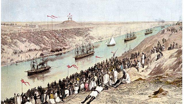 Inauguración oficial del canal de Suez
