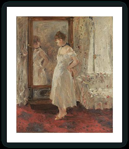 El espejo psiqué | Berthe Morisot