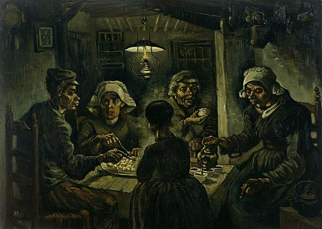 Los comedores de patatas | Vincent Van Gogh