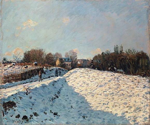 SISLEY - NIEVE EN ARGENTEUIL - 1876